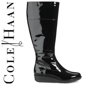 Cole Haan Patent Leather Boots